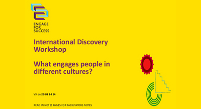 Discovery Workshop: What Engages People in Different Cultures?