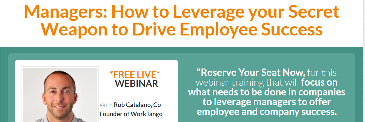 Webinar – How to Leverage your Secret Weapon to Drive Employee Success