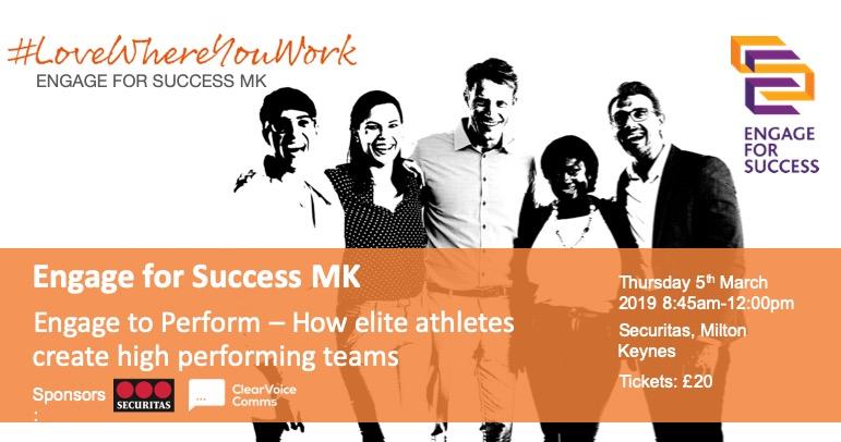 Engage to Perform – How Elite Athletes Create High Performing Teams