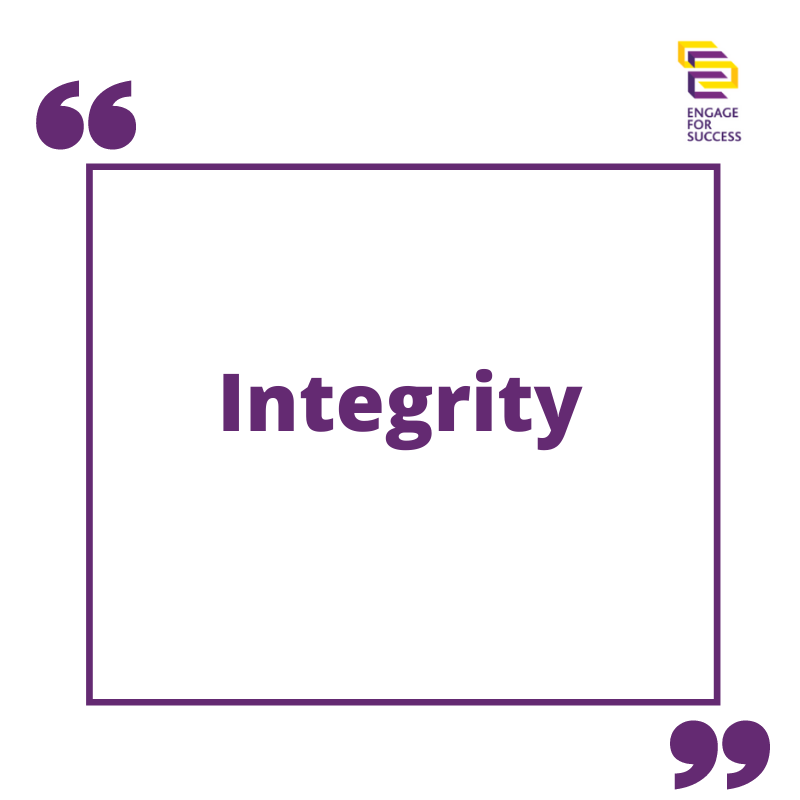 Thinking about Integrity In Our Current Climate