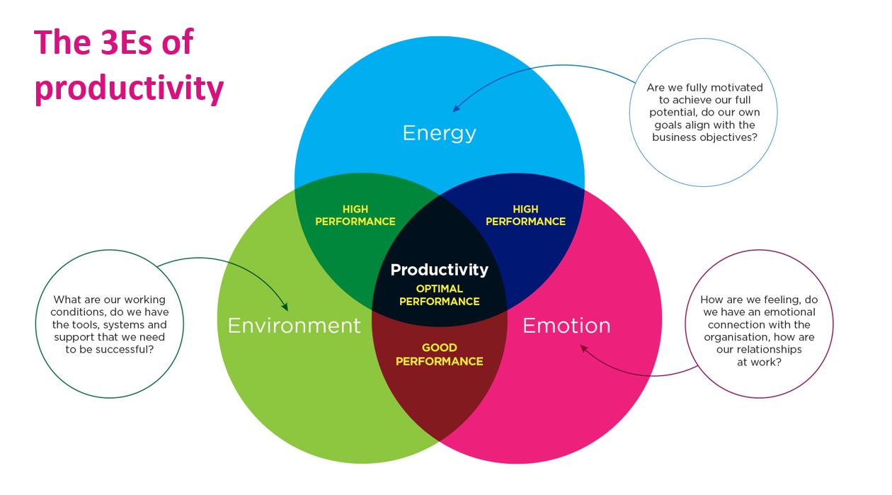 The 3 E's of Productivity