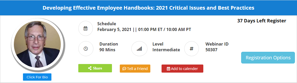 Developing Effective Employee Handbooks: 2021 Critical Issues and Best Practices
