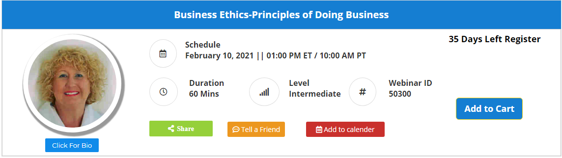 Business Ethics-Principles of Doing Business