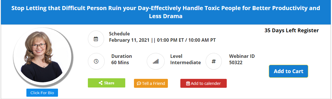 Stop Letting that Difficult Person Ruin your Day-Effectively Handle Toxic People for Better Productivity and Less Drama