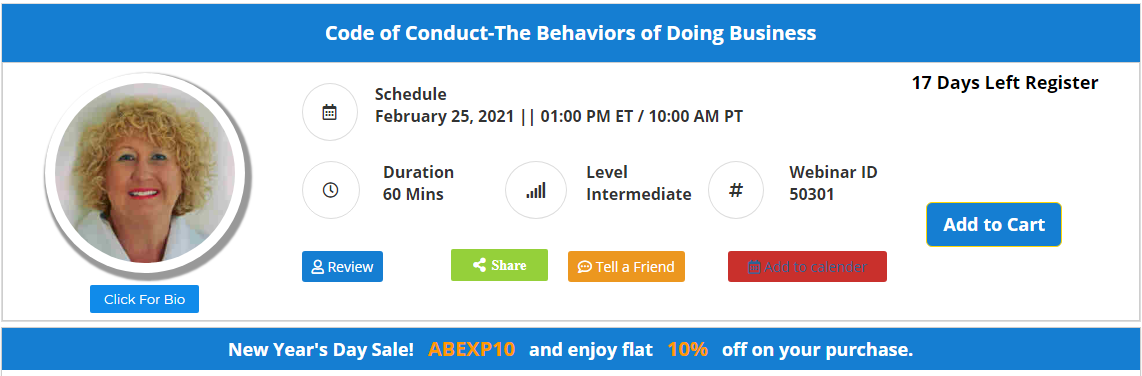 Code of Conduct-The Behaviors of Doing Business
