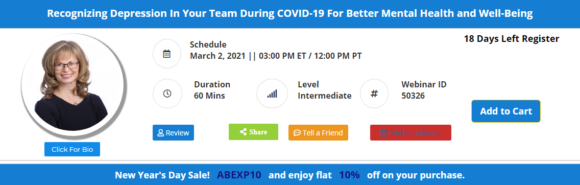 Recognizing Depression In Your Team During COVID-19 For Better Mental Health and Well-Being